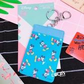 迪士尼正版 米奇米妮 米奇 皮質證件票卡套 悠遊卡套 鑰匙圈 COCOS KA199