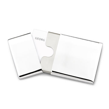 丹麥 Georg Jensen Cube Pocket Cardholder CW Office 系列, 方形 名片盒
