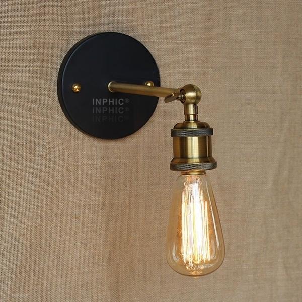 INPHIC首選燈具-復古鐵藝loft個性搖臂壁燈/創意酒吧咖啡廳臥室復古壁燈/工業風壁燈/壁燈