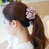 頭飾韓國花朵發夾馬尾扣發圈韓版豎夾
