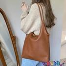 子母包 托特包女大容量韓版簡約側背包2021新款純色輕便pu軟皮手提子母包寶貝計畫 上新