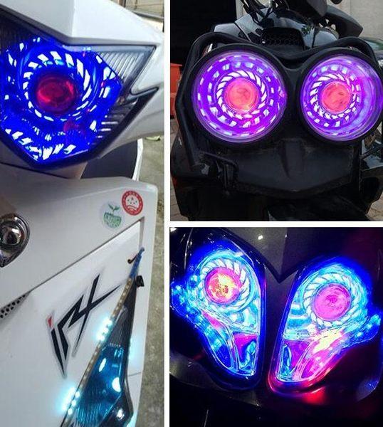 【優選】機車led燈泡超亮燈12v電動燈改裝內置前大燈