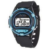 JAGA捷卡 防水多功能運動電子錶 藍色夜光 男錶 學生錶 兒童手錶 運動錶 M267-AE 藍黑