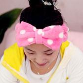韓國可愛蝴蝶結束髮帶 圓點 加厚 髮帶 洗臉 化妝 沐浴 卸妝美妝小物 《SV4137》快樂生活網