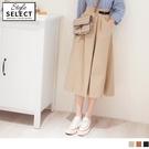 《KG0937-》日系率性造型腰帶傘狀工裝裙 OB嚴選