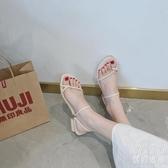 涼鞋 小姐姐 怪怪跟 韓瘋!!春夏新款 淺口方頭氣質粗跟高跟涼鞋 糖果色  『優尚良品』