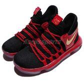 Nike 籃球鞋 Zoom KD10 LE GS 黑 紅 漆皮 金勾 KD 10代 運動鞋 女鞋 大童鞋【PUMP306】 AJ7220-076
