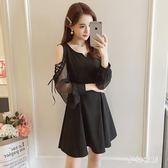 大尺碼洋裝 2019胖MM巨顯瘦小黑裙加肥加大碼200斤QW1297『夢幻家居』