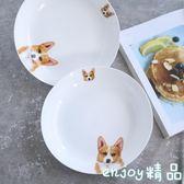 新年鉅惠 短腿柯基系列陶瓷餐具可愛動物盤子家用菜盤飯盤餃子盤深盤萌