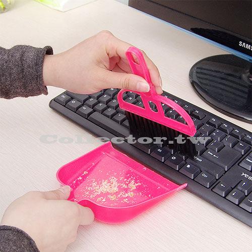 【超取399免運】小學生書桌掃把清潔組 小掃把小畚箕套裝組 電腦清潔刷 清潔死角超容易