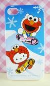 【震撼精品百貨】Hello Kitty 凱蒂貓~HELLO KITTY iPhone4手機殼-芝麻街聯名款-藍滑雪