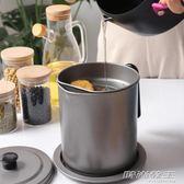 日式儲油罐大容量不銹鋼油壺過濾油渣家用廚房大號油瓶防漏裝油罐     时尚教主