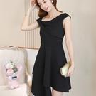 短袖洋裝-春夏新款韓版時尚女裝百搭潮流純色修身顯瘦休閒連身裙