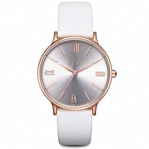 ELLE 巴黎時尚 玫瑰金女錶(ES21005S03X)