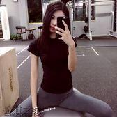 annerun緊身高彈速干透氣運動短袖背心健身訓練T恤瑜伽跑步上衣女【叢林之家】