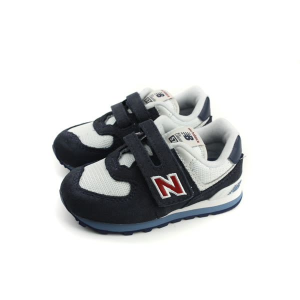 New Balance 574系列 休閒運動鞋 魔鬼氈 黑/白 小童 童鞋 IV574CN-W no437