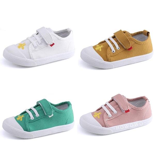 魔鬼氈帆布休閒鞋 中小童鞋 運動布鞋 兒童板鞋 (13-15cm) KL105 好娃娃