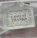 水晶印章 祝福詞 5款選-A note of Thanks【魔小物】「現貨7」