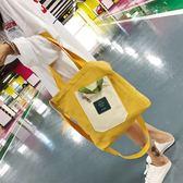 帆布袋 包 ins包包女chic帆布包女斜挎包學生韓版單肩原宿日系手提袋
