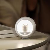 日本感應小夜燈臥室床頭燈usb睡眠燈人體感應光控燈起夜過道樓道 「ATF夢幻小鎮」