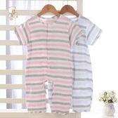 寶寶夏季連體衣兒童短袖睡衣