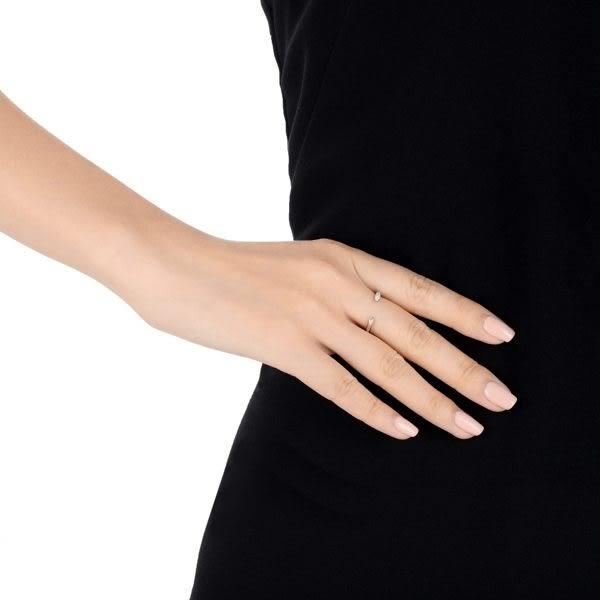點睛品 Fingers Play 18K金閃耀美鑽開口女戒造型戒指