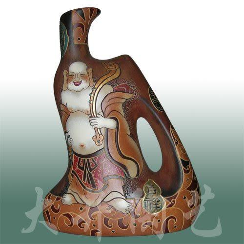陶藝禮品擺設工藝品功夫瓶招財進寶花瓶裝飾品擺件
