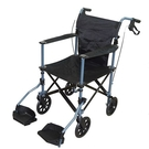 出口歐美銀髮族折疊輪椅 最小收摺!! 8KG( 送旅行收納袋)全新改款