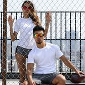 運動速干T恤男女短袖跑步情侶透氣寬松薄款夏季半袖健身速干衣服【韓衣舍】