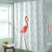 優惠快速出貨-衛生間浴簾套裝隔斷加厚防水防霉免打孔窗簾布不透明掛簾洗澡門簾
