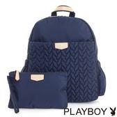 PLAYBOY- 後背包 輕量空氣包系列-午夜藍