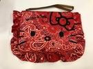 【震撼精品百貨】Hello Kitty 凱蒂貓~Hello Kitty 凱蒂貓化妝包-BND紅