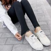 春夏新款褲腳蕾絲打底褲女薄款顯瘦彈力純棉外穿小腳褲九分褲 完美情人生活館
