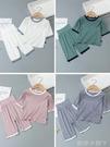莫代爾薄款兒童睡衣高腰春秋季套裝女童男童寶寶長袖空調服家居服 蘿莉新品