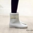 日式環保輕便中筒雨靴防水時尚膠鞋防滑水鞋雨鞋女【時尚大衣櫥】