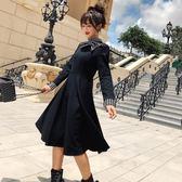 長袖洋裝秋冬新款約瑟夫同款復古 赫本小黑裙8240GD3F-326-B依佳衣