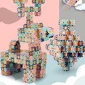 益智玩具正方形拼裝方塊積木拼插塑料玩具男女孩【福喜行】
