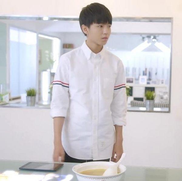 TFBOYS王俊凱王源同款衣服 長袖襯衫 上衣潮【莎芭】
