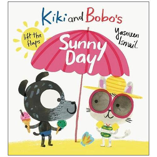 麥克書店Kiki and Bobo s Sunny Day情緒管理英文圖畫翻翻操作童書