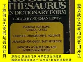 二手書博民逛書店英文原版罕見The New Roger s Thesaurus in Dictionary Form by Nor