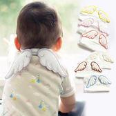 天使翅膀四層紗布墊背吸汗巾20x29cm 兒童造型墊背巾