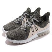 Nike 慢跑鞋 Wmns Air Max Sequent 3 綠 灰 米色 氣墊 女鞋 【PUMP306】 908993-300