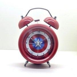 復古靜音鬧鐘 3吋響鈴鬧鐘 帶夜燈時鐘 仿古卡通鬧鈴時鐘 E-04