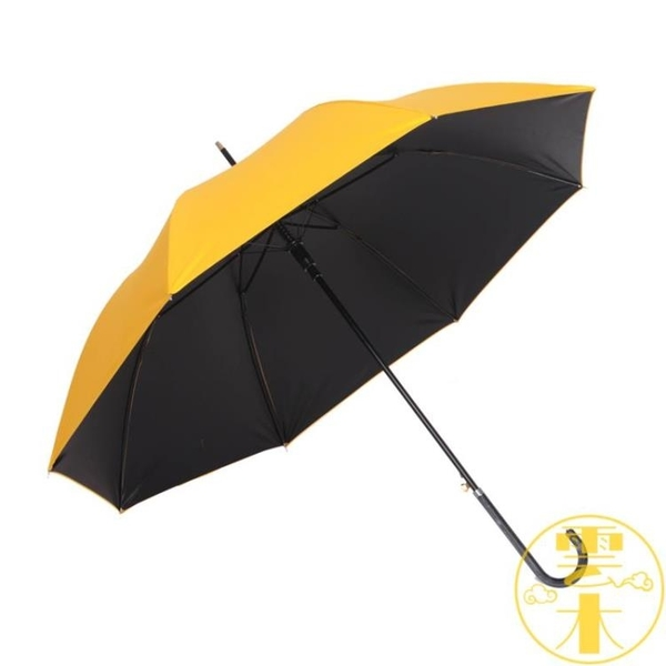 晴雨兩用直立傘自動長柄傘男女防曬傘防紫外線黑膠傘【雲木雜貨】