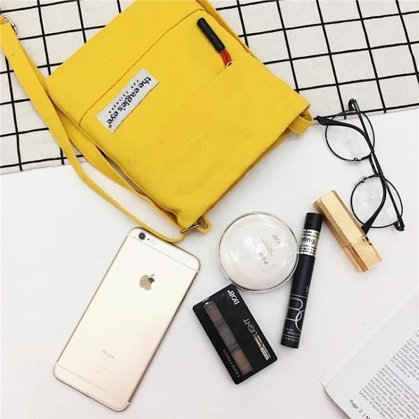手機包 2020新品斜跨帆布包單肩小包包韓版迷你布藝手拿零錢包