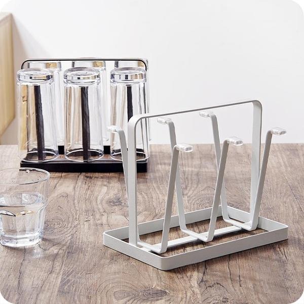 杯架日式鐵藝瀝水杯架 家用水杯掛架杯子架玻璃杯收納架茶杯 快速出貨