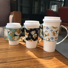 環保飲料提袋 帆布手提袋奶茶咖啡手搖杯袋...