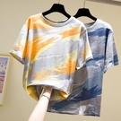 圓領上衣短袖T恤中大尺碼L-4XL適合胖女人穿的短袖寬松女上衣胖mm加肥200斤t恤夏4F081.韓依紡