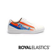 ROYAL ELASTICS Bishop Color Line 白藍橘真皮運動休閒鞋 (男) 01791-025