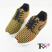 【TRS】韓國空運條紋透氣網布空氣增高鞋 ↑6cm 紅綠-女鞋(7100-0040)